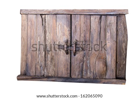Old antique wooden cabinet. - stock photo