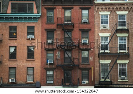 Old Apartment Buildings And Fire Escapes, New York City Part 62