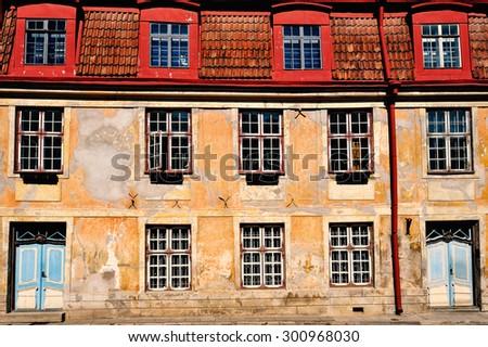 Old architecture. Historical centre of Tallinn - stock photo