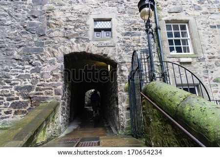 Old architecture of the city of Edinburgh, Scotland, UK. - stock photo