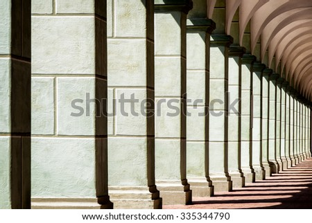 old archway at a historic building - stock photo