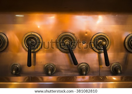 old arms antique copper beer factory - stock photo