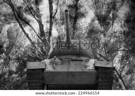 Old Army Tank - stock photo