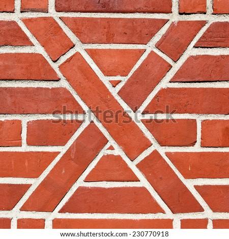 Old artistic brickwork - stock photo