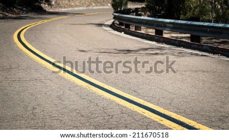 Old Asphalt Road Abstract - stock photo