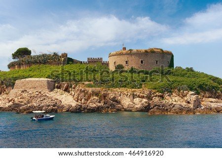 Old Austro-Hungarian fort Mamula on the island of Lastavica. Montenegro