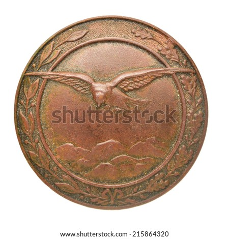 Old Austro-Hungarian military badges proficiency specialist - stock photo