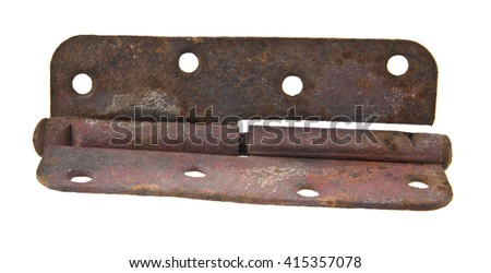 old awnings above doors isolated on white background - stock photo