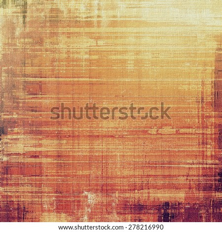 Old background with delicate abstract texture. With different color patterns: yellow (beige); brown; red (orange) - stock photo