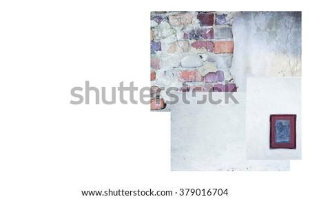 old backgrounds isolated on white background - stock photo