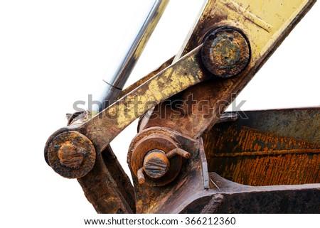 Old Backoe - stock photo
