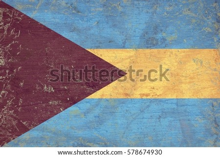Old Bahamas flag texture