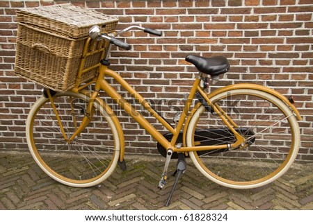 Old bakers bicycle - stock photo