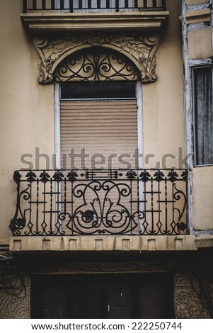 old balcony, Spanish city of Valencia, Mediterranean architecture