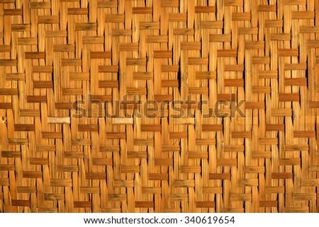 Old bamboo  background - stock photo