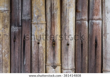 Old bamboo texture background - stock photo
