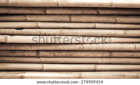 Old bamboo texture, vintage background - stock photo