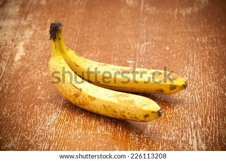 Old banana - stock photo