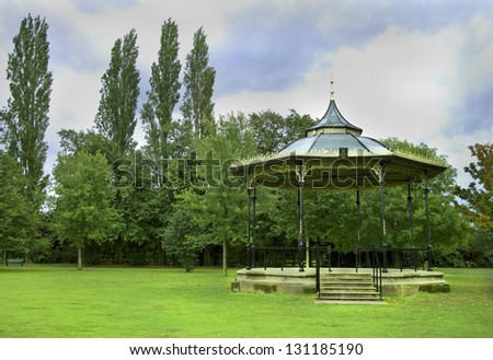 Old Bandstand in park - stock photo