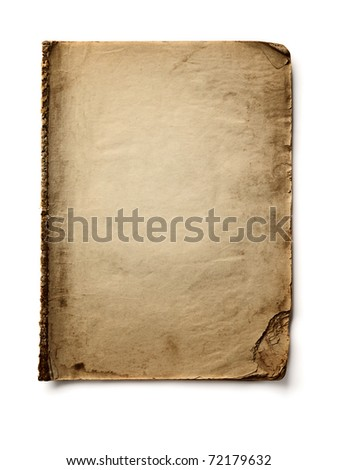Old bank book on white background - stock photo