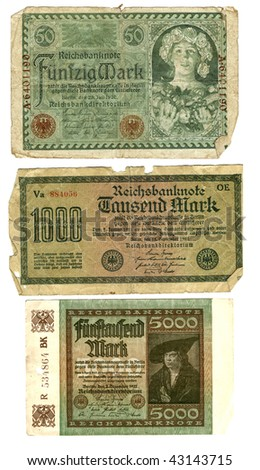 Old banknotes