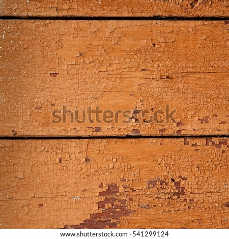 Old Barn Wood Background. Brown Red Wooden Square Texture. Timber Isolated Frame Wallpaper. Hardwood Outdoor Vintage Signboard Or Billboard With Copy Space. Shabby Paint Wood Paneling