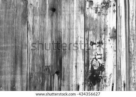 Old barn wood simple background in black and white.