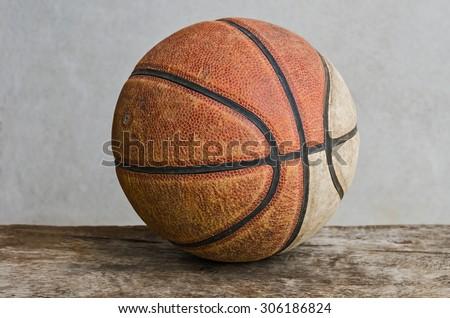 Old basketball - stock photo