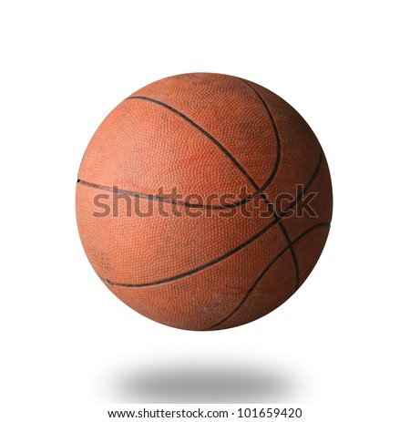 Old basketball the world favorite sport - stock photo