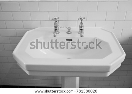 Old Bathroom Sink Taps Stock Photo (Royalty Free) 781580020 ...