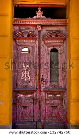 Old beautiful door