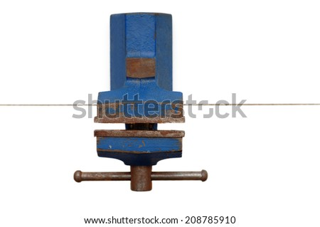 old bench vice - stock photo