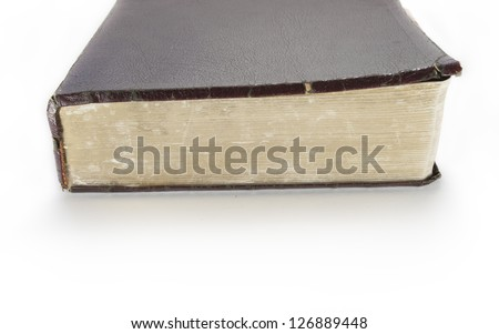 old bible - stock photo