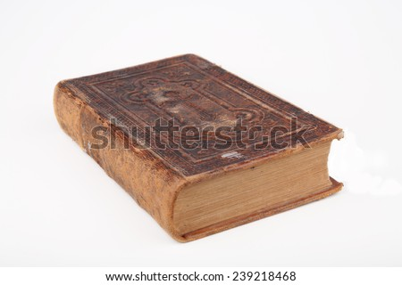 Old bible. - stock photo