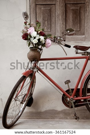 old bicycle and bouquet style home