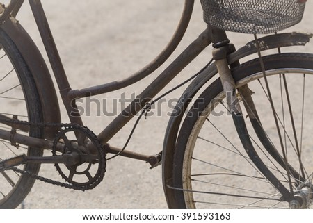 old bicycle and old fashion.