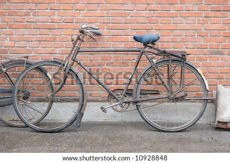 old bicycle in Beijing, China