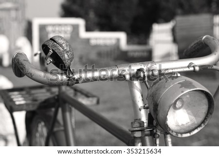 old bicycle sepia tone for background