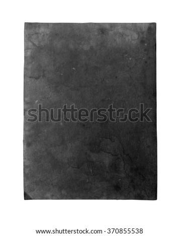 old black paper sheet - stock photo