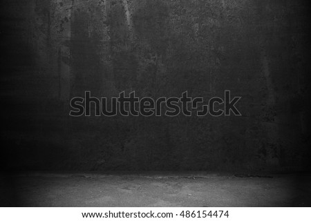Old black wall background. Dark texture