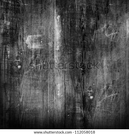 old black wood texture (for background) - stock photo