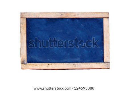 old blackboard isolated on white