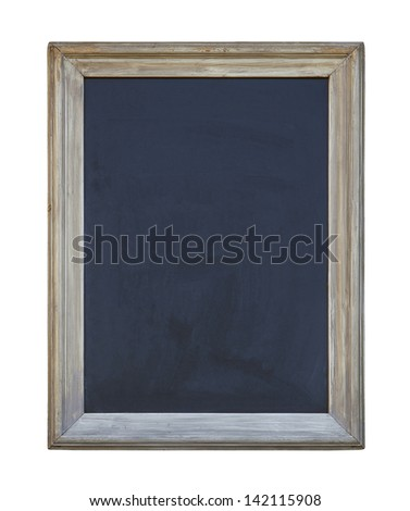 Old blackboard with clipping path - stock photo