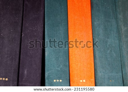Old blank books closeup - stock photo