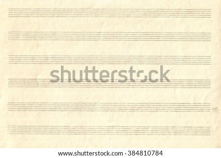 Old Blank Music Sheet Paper - stock photo
