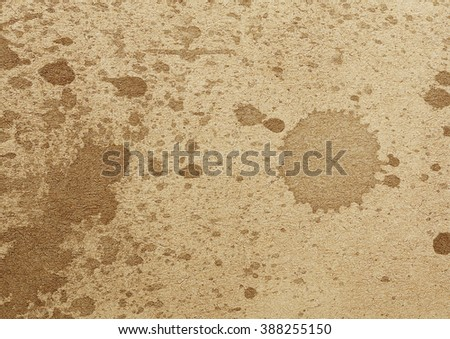 old blank page with ink splash - stock photo