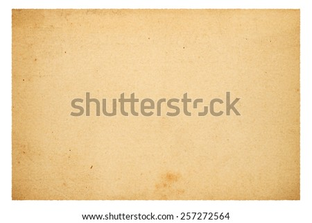 Old blank paper isolated on white background - stock photo