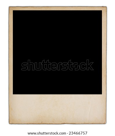 Old blank photograph - stock photo