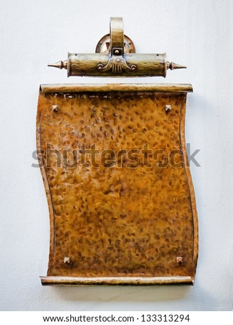old blank sign  - nice background with space for text - stock photo