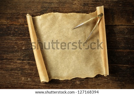 old blank treasure map - stock photo